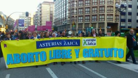 ASTURIAS LAICA EN LA MANIFESTACIÓN DEL DÍA MUJER MARZO 2014