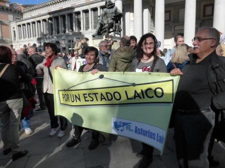 asturias laica en Madrid 22 marzo