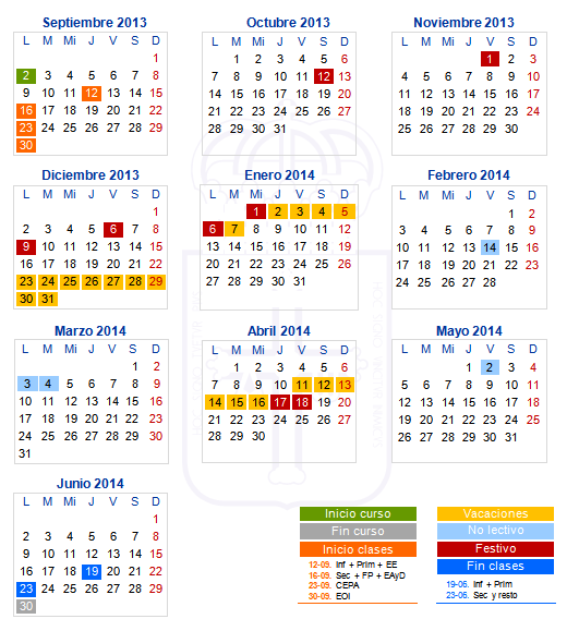 Calendario Escolar 18 19 Asturias.Calendario Escolar Asturias Laica