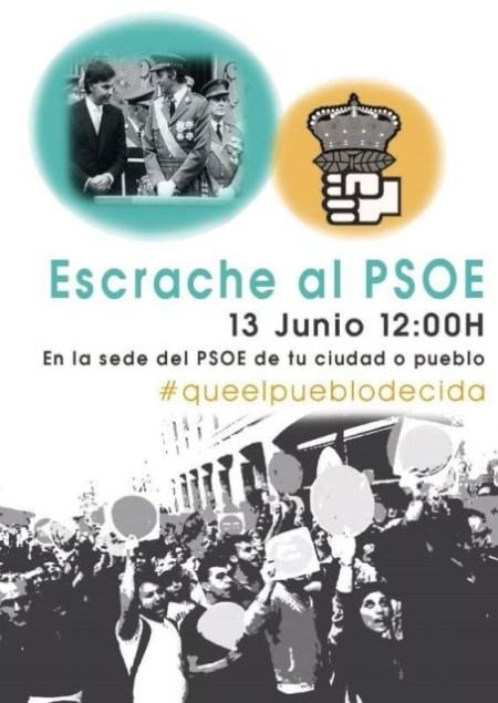 Escrache al PSOE