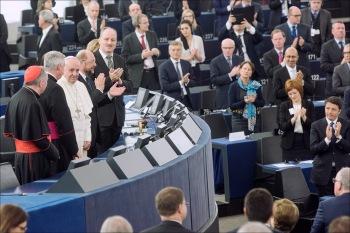 Papa en el Parlamento Europeo