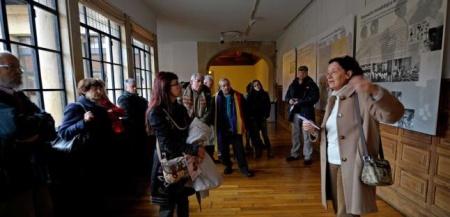 En la inauguración de la exposición sobre la Educación en la II República. Universidad de Oviedo, 2013
