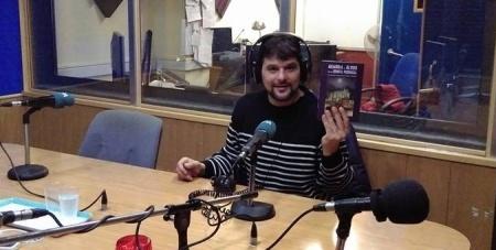 Pablo Martínez Corral en la grabación de la entrevista. (Foto Pablo martínez Corral)