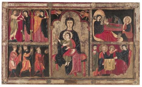 Frontal del altar de Avià. Museo Nacional de Arte de Cataluña