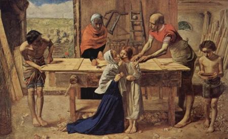 Cristo en casa de sus padres, Sir John E. Millais, s XIX