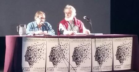 Paco Delgado y Pedro Salguero en la conferencia de introducción