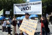 Gijón, Acto de reafirmación laicista