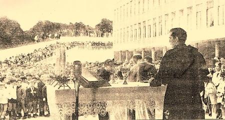 Inauguración del colegio de los Agustinos, Avilés 1966