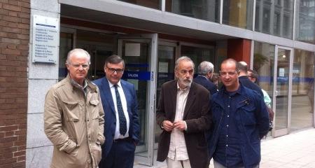 Fernando Acquaroni, Manuel Jesús Tey Ariza, abogado de Acquaroni; Luis Montes y Fernando Marín (de izda. a dcha.) DMD