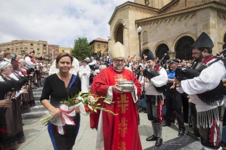 """29 de junio: Misa y """"bendición de las aguas"""" en Gijón, con participación de la Alcaldesa, Carmen Moriyón"""