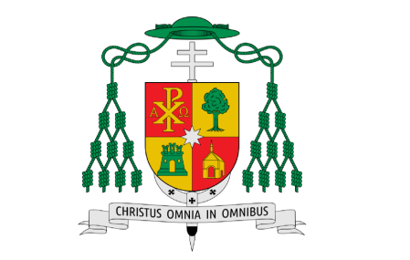 Escudo episcopal del arzobispo de Oviedo